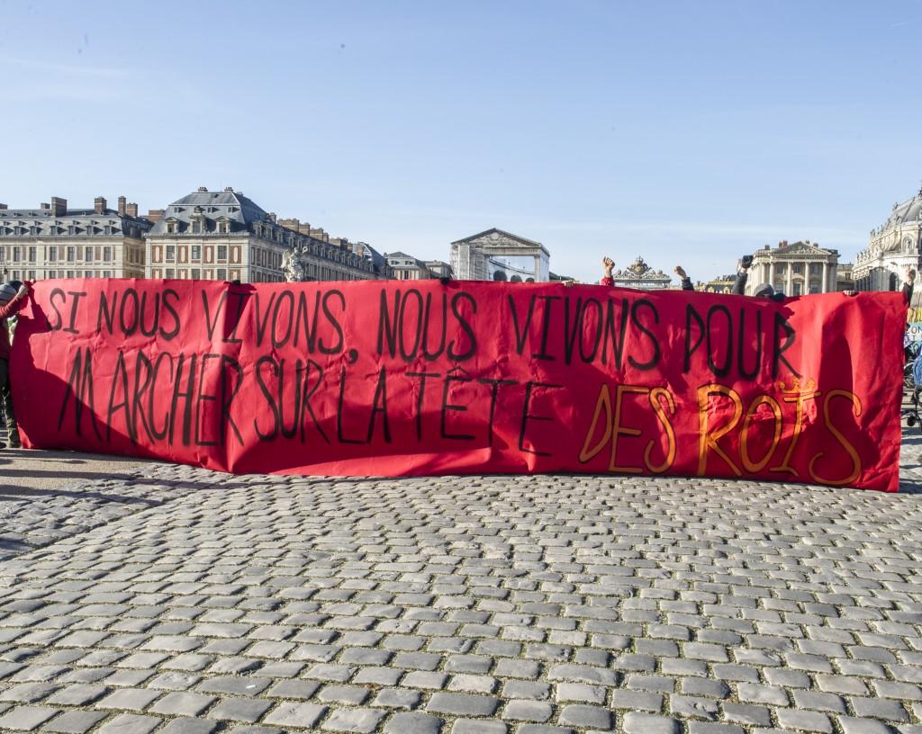 """Tracto vélo """"Cap sur la Cop"""", étape entre Coulomb et Versailles, 28 11 2015."""