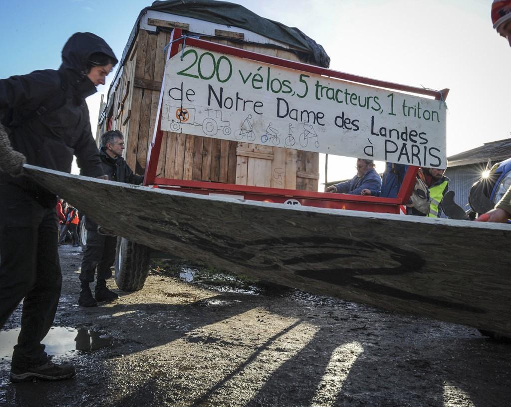 Convoi Cap sur la Cop, 21 novembre 2015, 1er jour, étape entre NDDL et Ancenis.