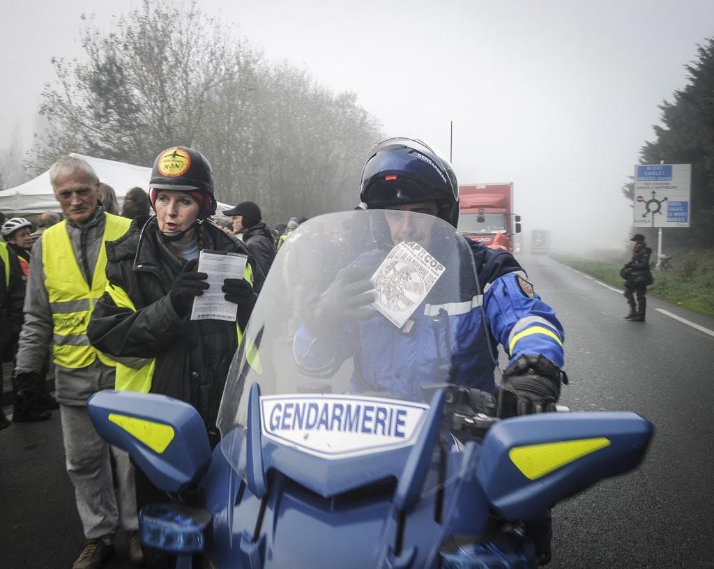 Convoi tracto vélo Cap sur la Cop, 23 novembre 2015, étape de Ancenis à La Flèche.