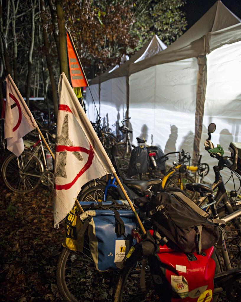 Convoi tracto vélo Cap sur la Cop, 26 novembre à Coulomb.